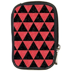 Triangle3 Black Marble & Red Colored Pencil Compact Camera Cases by trendistuff