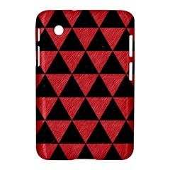 Triangle3 Black Marble & Red Colored Pencil Samsung Galaxy Tab 2 (7 ) P3100 Hardshell Case  by trendistuff