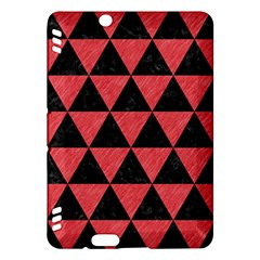 Triangle3 Black Marble & Red Colored Pencil Kindle Fire Hdx Hardshell Case by trendistuff