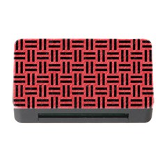 Woven1 Black Marble & Red Colored Pencil Memory Card Reader With Cf by trendistuff