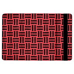 Woven1 Black Marble & Red Colored Pencil Ipad Air Flip by trendistuff