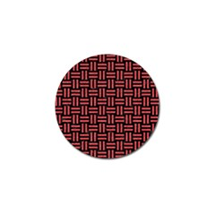 Woven1 Black Marble & Red Colored Pencil (r) Golf Ball Marker (4 Pack) by trendistuff