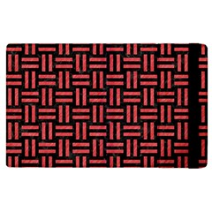 Woven1 Black Marble & Red Colored Pencil (r) Apple Ipad 2 Flip Case by trendistuff