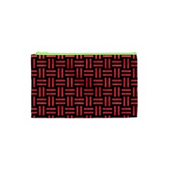 Woven1 Black Marble & Red Colored Pencil (r) Cosmetic Bag (xs) by trendistuff