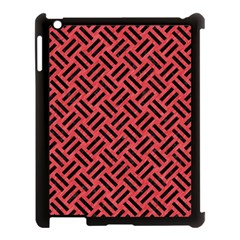 Woven2 Black Marble & Red Colored Pencil Apple Ipad 3/4 Case (black) by trendistuff