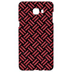 Woven2 Black Marble & Red Colored Pencil (r) Samsung C9 Pro Hardshell Case  by trendistuff