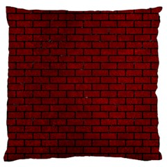 Brick1 Black Marble & Red Grunge Large Cushion Case (two Sides) by trendistuff