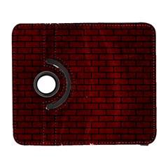 Brick1 Black Marble & Red Grunge Galaxy S3 (flip/folio) by trendistuff
