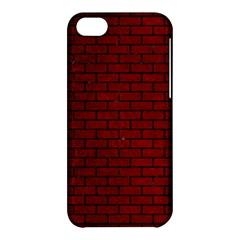 Brick1 Black Marble & Red Grunge Apple Iphone 5c Hardshell Case by trendistuff
