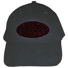Brick1 Black Marble & Red Grunge (r) Black Cap by trendistuff
