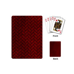 Brick2 Black Marble & Red Grunge Playing Cards (mini)  by trendistuff