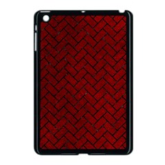 Brick2 Black Marble & Red Grunge Apple Ipad Mini Case (black) by trendistuff