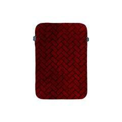 Brick2 Black Marble & Red Grunge Apple Ipad Mini Protective Soft Cases by trendistuff