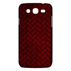 Brick2 Black Marble & Red Grunge Samsung Galaxy Mega 5 8 I9152 Hardshell Case  by trendistuff