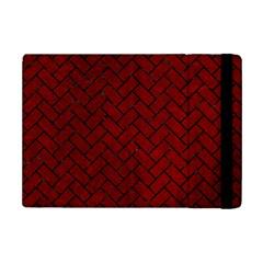 Brick2 Black Marble & Red Grunge Ipad Mini 2 Flip Cases by trendistuff