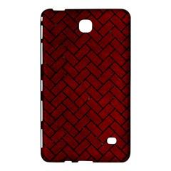 Brick2 Black Marble & Red Grunge Samsung Galaxy Tab 4 (7 ) Hardshell Case  by trendistuff