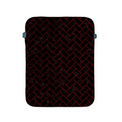 Brick2 Black Marble & Red Grunge (r) Apple Ipad 2/3/4 Protective Soft Cases by trendistuff