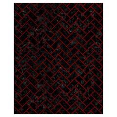 Brick2 Black Marble & Red Grunge (r) Drawstring Bag (small) by trendistuff