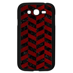 Chevron1 Black Marble & Red Grunge Samsung Galaxy Grand Duos I9082 Case (black) by trendistuff