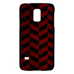 Chevron1 Black Marble & Red Grunge Galaxy S5 Mini by trendistuff