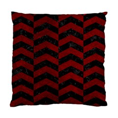 Chevron2 Black Marble & Red Grunge Standard Cushion Case (two Sides) by trendistuff