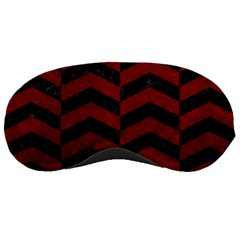 Chevron2 Black Marble & Red Grunge Sleeping Masks by trendistuff
