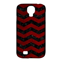 Chevron3 Black Marble & Red Grunge Samsung Galaxy S4 Classic Hardshell Case (pc+silicone) by trendistuff