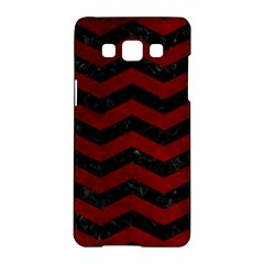 Chevron3 Black Marble & Red Grunge Samsung Galaxy A5 Hardshell Case  by trendistuff
