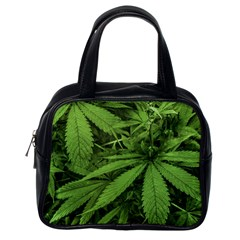 Marijuana Plants Pattern Classic Handbags (one Side) by dflcprints