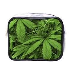 Marijuana Plants Pattern Mini Toiletries Bags