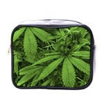 Marijuana Plants Pattern Mini Toiletries Bags Front