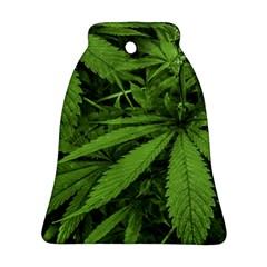 Marijuana Plants Pattern Bell Ornament (two Sides) by dflcprints