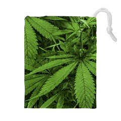 Marijuana Plants Pattern Drawstring Pouches (extra Large) by dflcprints