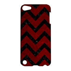 Chevron9 Black Marble & Red Grunge Apple Ipod Touch 5 Hardshell Case by trendistuff