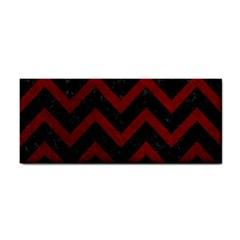 Chevron9 Black Marble & Red Grunge (r) Cosmetic Storage Cases by trendistuff