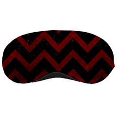 Chevron9 Black Marble & Red Grunge (r) Sleeping Masks by trendistuff