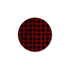 Circles1 Black Marble & Red Grunge Golf Ball Marker (4 Pack) by trendistuff