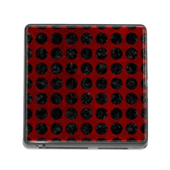 Circles1 Black Marble & Red Grunge Memory Card Reader (square) by trendistuff