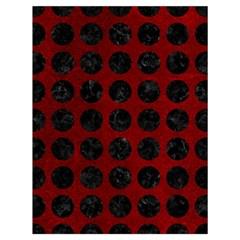Circles1 Black Marble & Red Grunge Drawstring Bag (large) by trendistuff