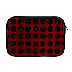 Circles1 Black Marble & Red Grunge Apple Macbook Pro 17  Zipper Case by trendistuff