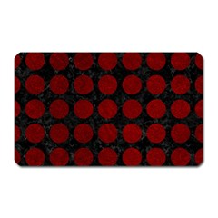 Circles1 Black Marble & Red Grunge (r) Magnet (rectangular) by trendistuff