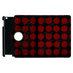 Circles1 Black Marble & Red Grunge (r) Apple Ipad 3/4 Flip 360 Case by trendistuff