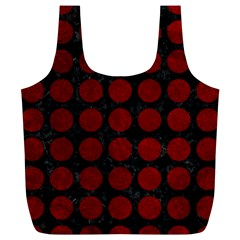 Circles1 Black Marble & Red Grunge (r) Full Print Recycle Bags (l)  by trendistuff