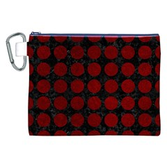 Circles1 Black Marble & Red Grunge (r) Canvas Cosmetic Bag (xxl) by trendistuff