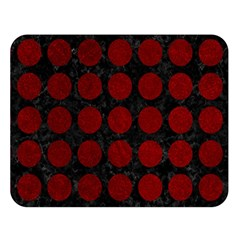 Circles1 Black Marble & Red Grunge (r) Double Sided Flano Blanket (large)  by trendistuff