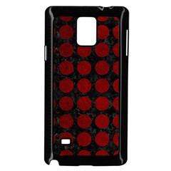 Circles1 Black Marble & Red Grunge (r) Samsung Galaxy Note 4 Case (black) by trendistuff