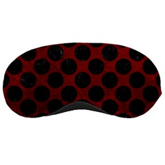 Circles2 Black Marble & Red Grunge Sleeping Masks by trendistuff