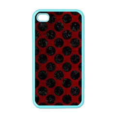 Circles2 Black Marble & Red Grunge Apple Iphone 4 Case (color) by trendistuff