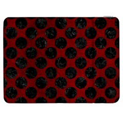 Circles2 Black Marble & Red Grunge Samsung Galaxy Tab 7  P1000 Flip Case by trendistuff