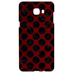 Circles2 Black Marble & Red Grunge Samsung C9 Pro Hardshell Case  by trendistuff